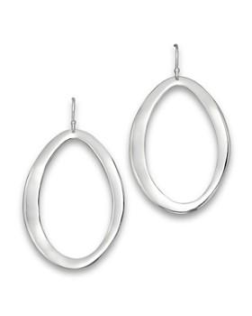 IPPOLITA - Sterling Silver Scultura Large Wavy Oval Earrings
