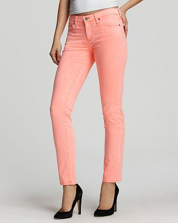 634d479991 AG Jeans - Luscious Skinny Jeans in Neon Orange