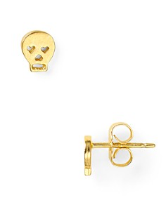 Dogeared Little Things Mini Gold Skull Stud Earrings - Bloomingdale's_0