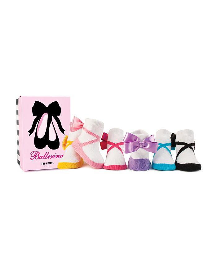 Trumpette - Girls' Ballerina Socks, Set of Six - Baby