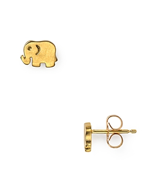 Dogeared Little Elephant Stud Earrings