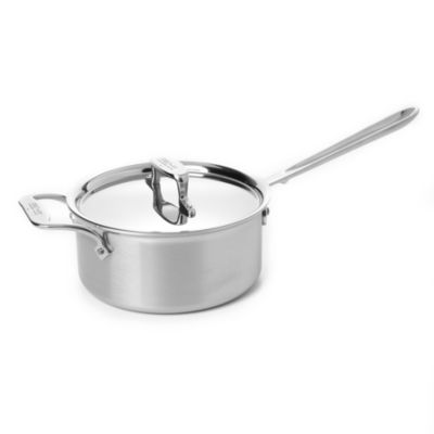 All Clad d5 Stainless Brushed 2 Quart Sauce Pan with Lid