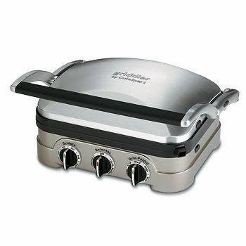 Cuisinart - Brushed Stainless Steel Griddler