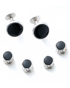 Bloomingdale's Oval Shirt Stud and Cufflinks Set - 100% Exclusive_0