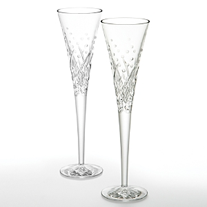 Waterford Happy Celebrations Flute, Set of 2-Home