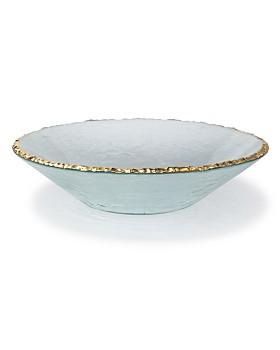 Annieglass - Edgey Gold Round Bowl