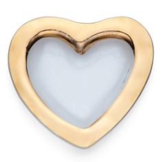 "Annieglass - Roman Antique Platinum 8"" Heart Bowl"