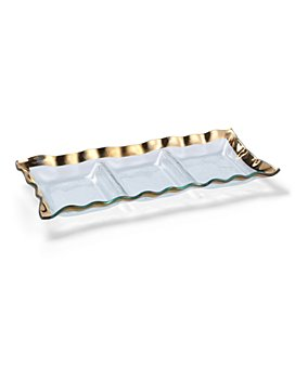 Annieglass - Ruffle 3-Section Tray