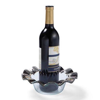 Annieglass - Ruffle Platinum Wine Coaster