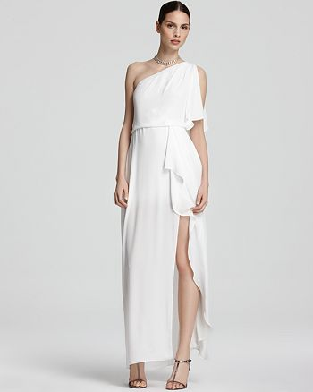 7443fef18a BCBGMAXAZRIA One Shoulder Gown - Kendal Ruffle