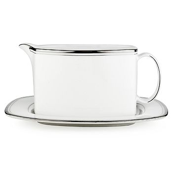 kate spade new york - Library Lane Platinum Sauce Boat & Stand