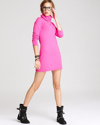 AQUA - Long Sleeve Turtleneck Dress - 100% Exclusive