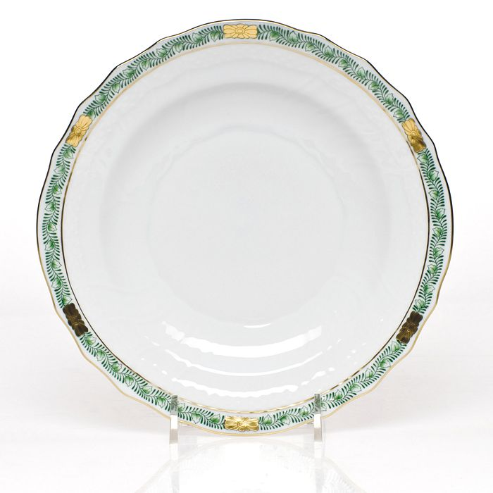 Herend - Chinese Bouquet Salad Plate, Garland Green