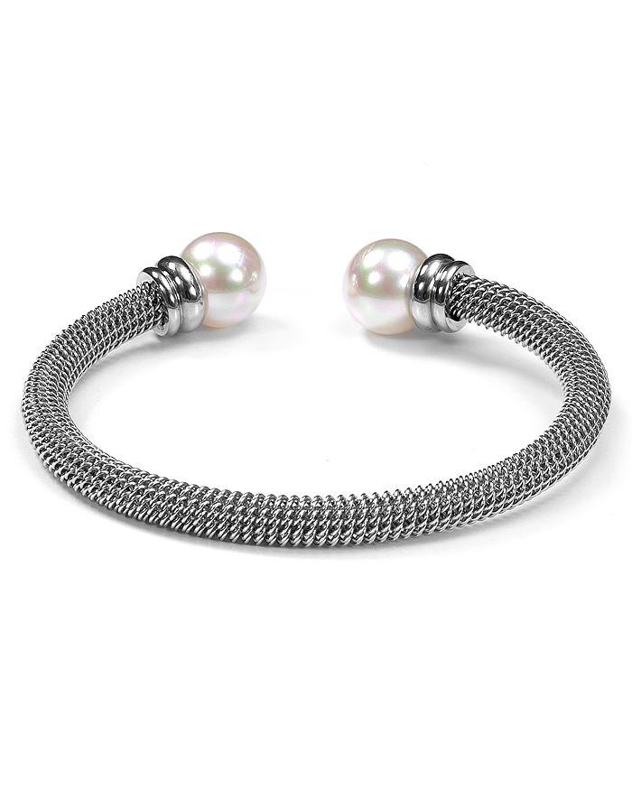 Majorica - Monochrome Steel Cuff