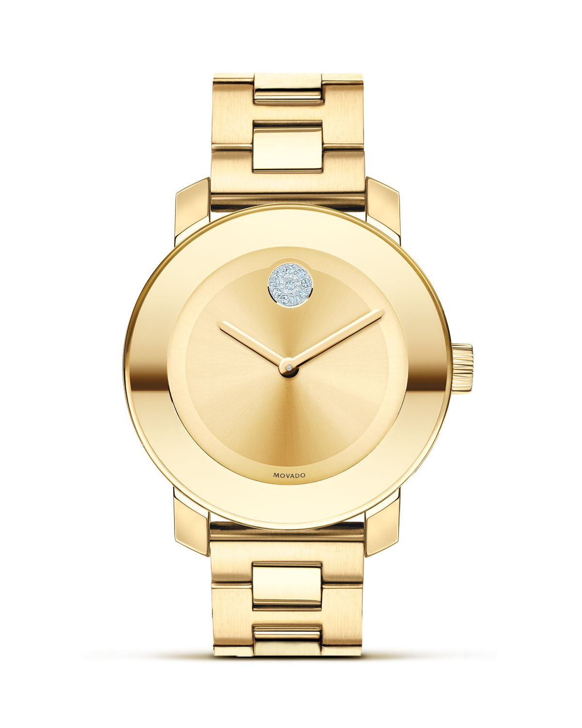 Yellow Gold Ionic Plated Museum Dial Watch, 36mm by Movado Bold
