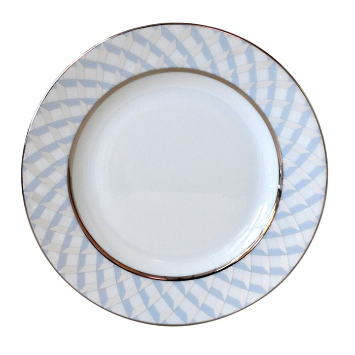 Bernardaud Paradise Bread & Butter Plate In Blue/platinum