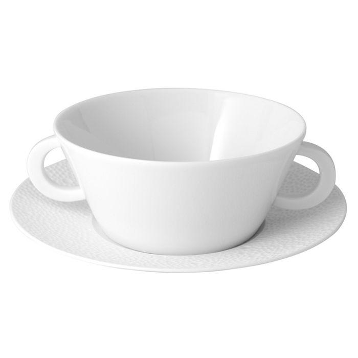 Bernardaud - Ecume White Cream Soup Cup