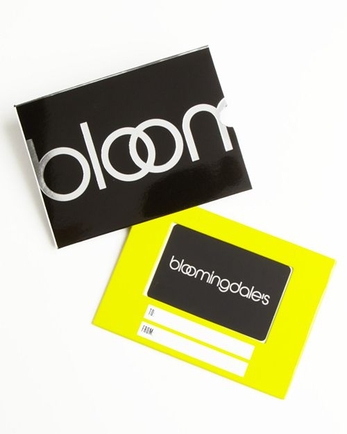 Bloomingdale's - Only at  Gift Card with Black Box Sleeve