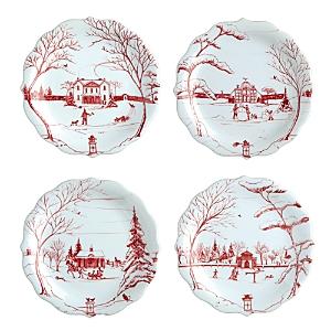 Juliska Country Estate Holiday Party Plates, Set of 4