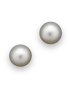 Tara Pearls - White South Sea Cultured Pearl Stud Earrings, 10mm