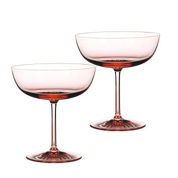 Monique Lhuillier Waterford - Blush Champagne Coupes, Set of 2