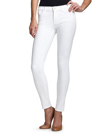 J Brand - Mid Rise 811 Skinny Jeans in Blanc