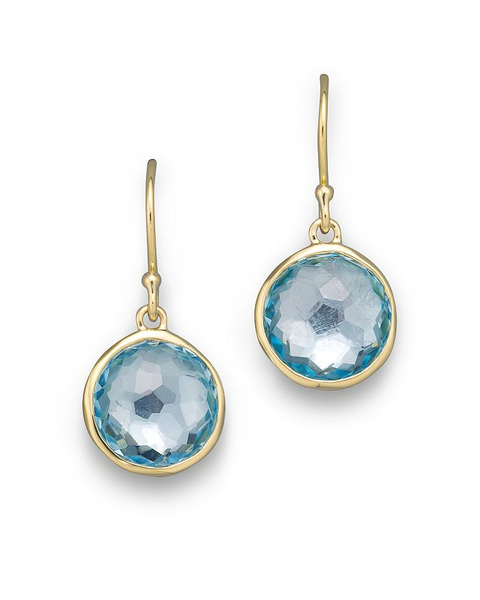IPPOLITA - 18K Gold Lollipop Earrings in Blue Topaz