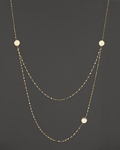 Lana Jewelry - Lana Jewelry 14K Yellow Gold Tri Disc Necklace, 24""