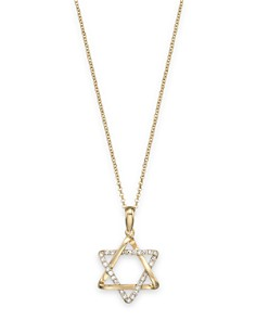"""Diamond Star of David Pendant in 14K Yellow Gold, .10 ct. t.w., 18"""" - 100% Exclusive - Bloomingdale's_0"""
