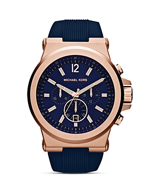michael kors male michael kors dylan silicone watch 48mm