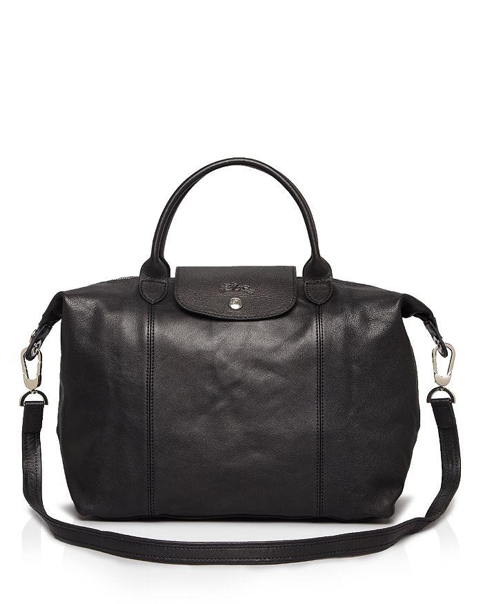 d37922524adad Longchamp - Le Pliage Medium Leather Satchel