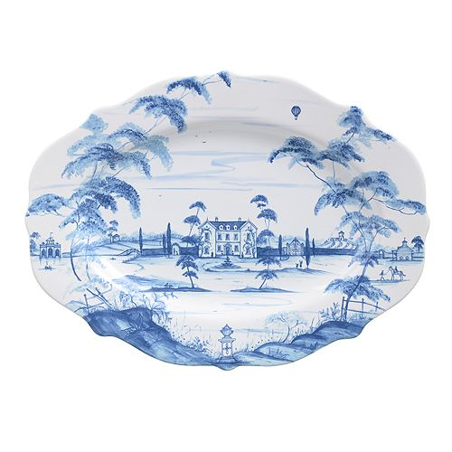 "Juliska - Country Estate Delft Blue 18.5"" Serving Platter Main House"