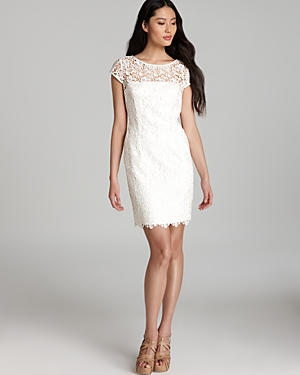 Adrianna Papell Dress - Cap Sleeve Lace