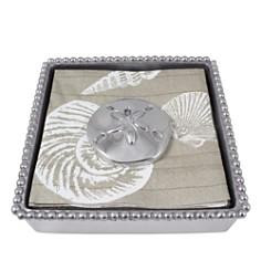 Mariposa - Sand Dollar Beaded Napkin Box