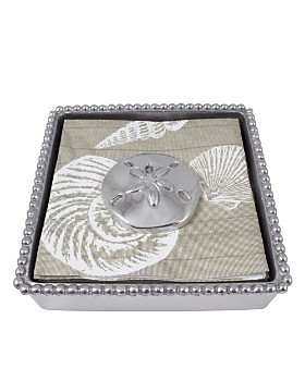 Mariposa - Sand Dollar Beaded Napkin Box