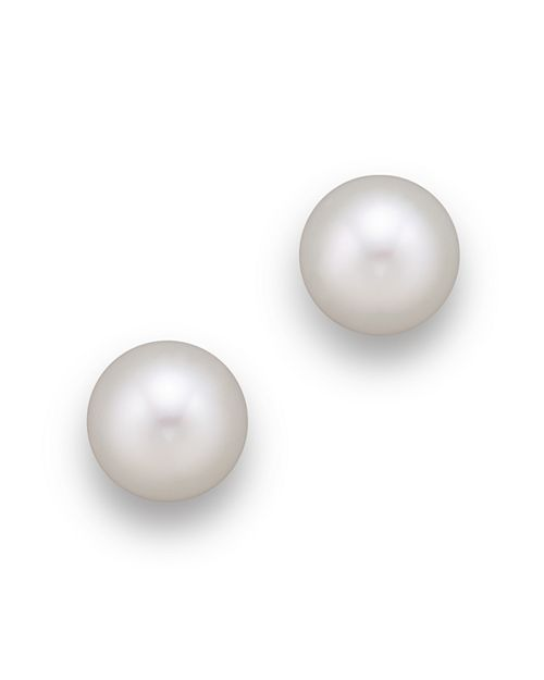 Tara Pearls - 18K Yellow Gold White South Sea Cultured Pearl Stud Earrings, 12-13mm