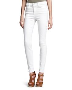 J Brand - High Rise Maria Skinny Jeans in Blanc