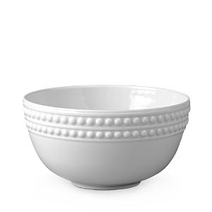 L'Objet Perlee White Soup Bowl