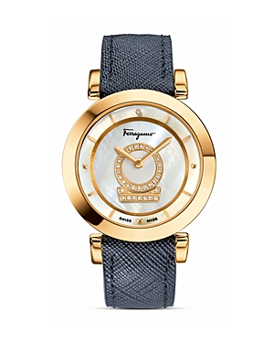 Salvatore Ferragamo Mi Nuetto Mother-of-Pearl Watch, 36mm