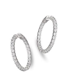 Bloomingdale's - Diamond Inside-Out Hoop Earrings in 14K White Gold, 4.0 ct. t.w.- 100% Exclusive
