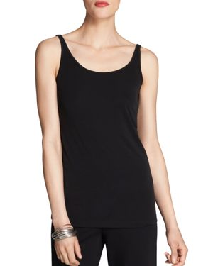Eileen Fisher Petites Scoop Neck Long Silk Cami