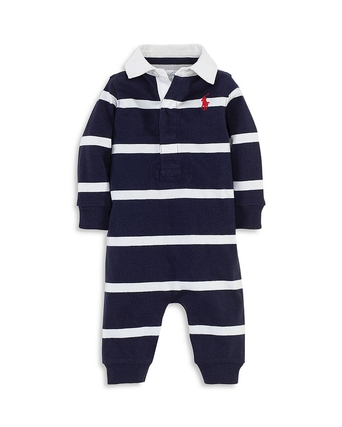 Ralph Lauren - Boys' Striped Rugby Coverall - Baby