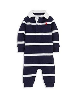 Ralph Lauren Childrenswear Boys Striped Rugby Coverall  Baby