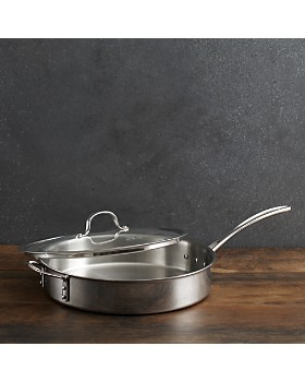 Calphalon - Calphalon Tri-Ply Stainless 5-Quart Covered Sauté Pan