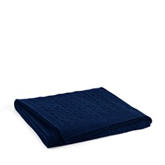 Ralph Lauren Cable Cashmere Throw Blanket - Bloomingdale's_0