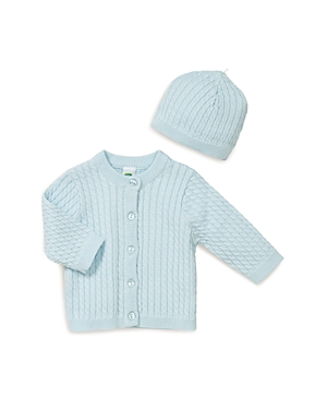Little Me Boys CableKnit Cardigan and Hat  Baby