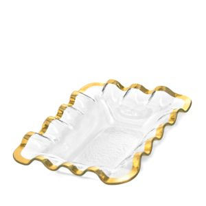 Annieglass Ruffle Bread Basket