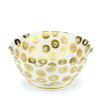 Michael Wainwright - Tempio Luna Gold Round Serving Bowl
