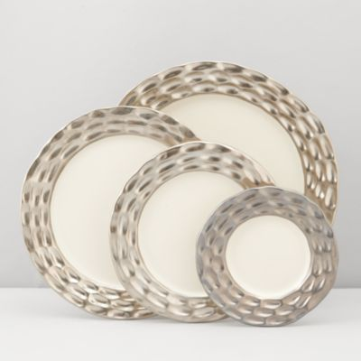 Truro Gold Canapé Plates, Set of 4