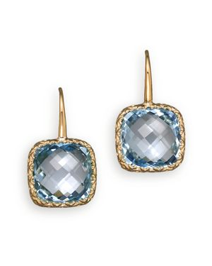 14K White Gold and Sky Blue Topaz Drop Earrings - 100% Exclusive